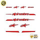 Pegatinas para Bici - Sticker Decorativo Bicicleta - Juego de Adhesivos en Vinilo para Bici Alpinestars Pegatinas Cuadro Bici
