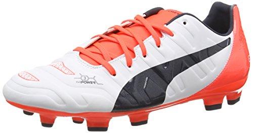 PUMA Evo Power 3 2 Fg, Scarpe da Calcio Uomo, Bianco/Arancione, 41 EU