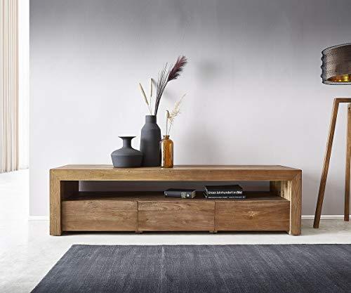 DELIFE TV-Board Bahan 185x55x48 cm Teak Lowboard