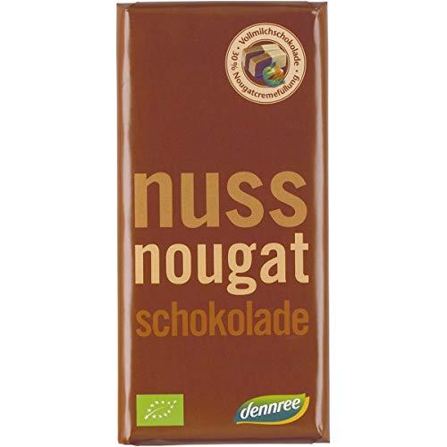 dennree Vollmilchschokolade mit Nougatcreme (100 g) - Bio