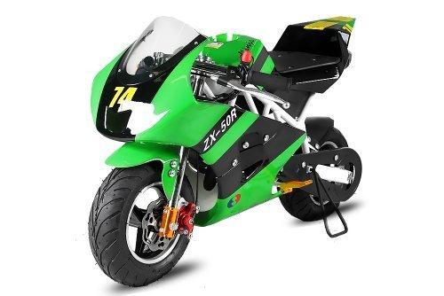 Nitro Motors 49cc Pocketbike PS50 Rocket Sport Tuning Kupplung 15mm Vergaser (Grün) 1130235
