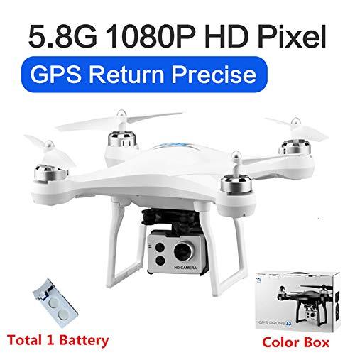 RC Drone GPS Drones met 5G WiFi 1080P HD Groothoek Elektronische camera GPS Intelligent Volgend quadcopter Vlieg 18 minuten Speelgoed, kan als cadeau aan uw kind worden gegeven,White,1battery