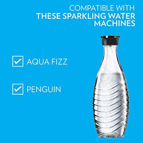 SodaStream Carbonating Glass Carafe for Crystal Sparkling Water Maker, 615 ml, dishwasher safe, 1 x reusable & refillable design bottle for carbonation