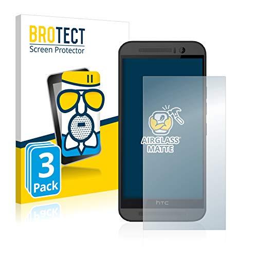 brotect Pellicola Vetro Opaca Compatibile con HTC One M9 (3 Pezzi) Protezione Schermo Anti-Riflesso Durezza 9H, AirGlass