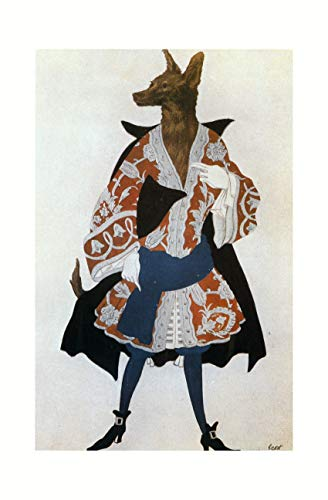 Leon Bakst - The wolf costume sketch for