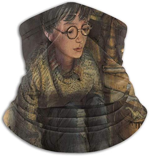 KINGAM Harry Potter - Polaina de cuello de microfibra multifuncional a prueba de polvo, pasamontañas, bandanas, calentador de cuello para clima frío y deportes al aire libre