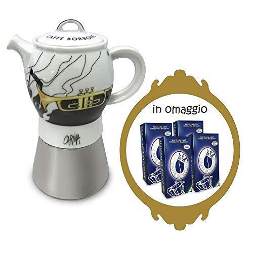 Macchina caffè Moka Karina Borbone + 4 Confezioni macinato da 250g
