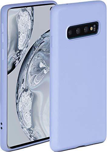 ONEFLOW Soft Hülle kompatibel mit Samsung Galaxy S10 Hülle aus Silikon, erhöhte Kante für Displayschutz, zweilagig, weiche Handyhülle - matt Hellblau