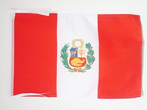 AZ FLAG Flagge Peru 45x30cm mit Kordel - Peruanische Fahne 30 x 45 cm - flaggen Top Qualität