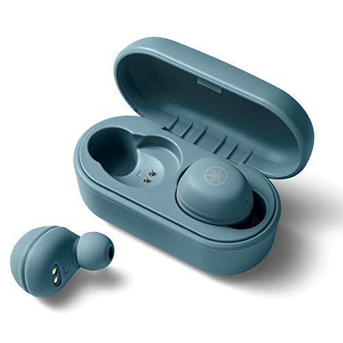 ヤマハ 完全ワイヤレスイヤホン TW-E3A(A) : リスニングケア /Bluetooth /最大6+18時間再生 /生活防水IPX5相当 /専用アプリ対応 /AAC・aptX対応 /マイク搭載 スモーキーブルー