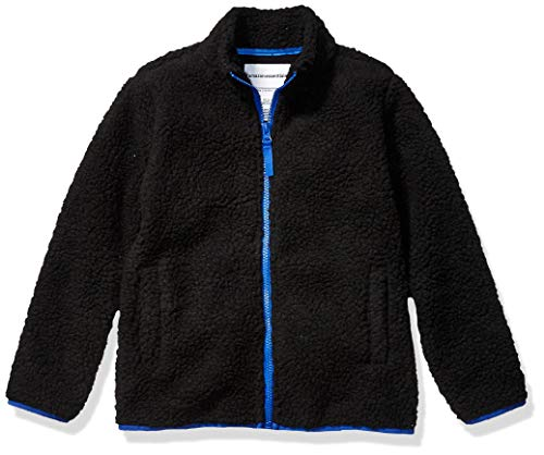 Amazon Essentials Full-Zip High-Pile Polar Fleece Jacket Outerwear, Noir, 4T