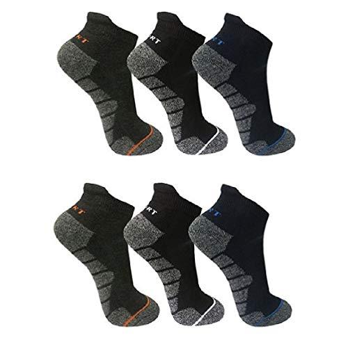 6 Paar Herren - Damen Thermo Sneaker | Sport Socken | dicke Strümpfe 39-42 / me