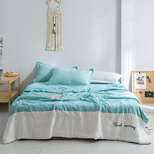 XNSY Family Soft and comfortable summer quilt-Lake Green_200*230cm