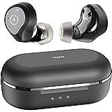 TOZO NC9 Auriculares Bluetooth ANC con cancelación Activa Control táctil 5.0 en la Oreja Auriculares estéreo con Estuche de Carga, de micrófono Integrados Bajos Profundos Premium para Deportes, Negro