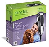 Andis 23585 EasyClip Whisper 12-Piece Adjustable Blade Clipper Kit, Pet Grooming, PM-4