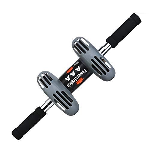 Bauchtrainer Wheel Premium Ab Roller Rad + Kniepolster for Bauch-Übung - Dual-Rad-Fitnessgeräte - Perfekt for Abdominal Stärkung Bauchkrafttraining (Farbe, Size : 49 * 15cm)