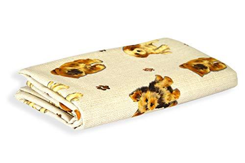 R.P. Sprei digitale afdrukken dieren -100% katoen zwaar -Made in Italy - bed Frans type Ikea - hond puppy