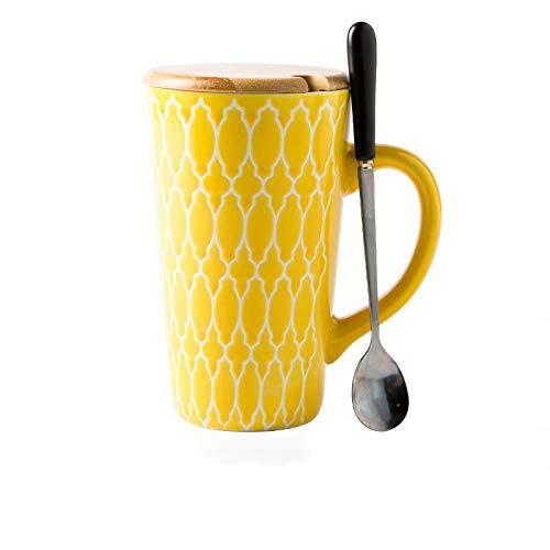 Tasse en Céramique Peinte À La Main De Style Ethnique, Tasse À Café pour La Maison, Tasse À Lait, Tasse À Eau Grande Capacité 500Ml, B