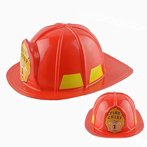 dontdo Jouet éducatif en forme de maison de pompier pour enfants - Casque de sécurité - Chapeau de pompier