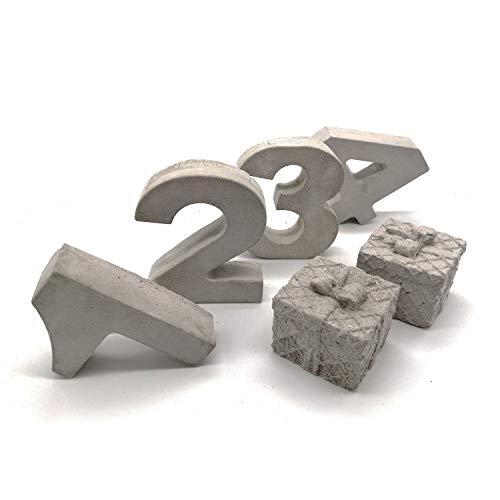 Beton Zahlen Set 1-4 | Advent | Tischdeko | Adventskranz