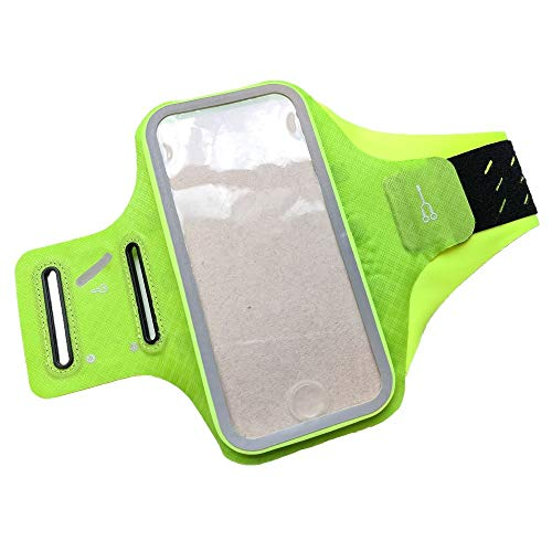 DFVmobile - Professional Cover Chinlon-Lycra Ultra-Thin Armband Sport Walking Running Fitness Cycling Gym for HTC Desire 828 D828x (2016) - Green