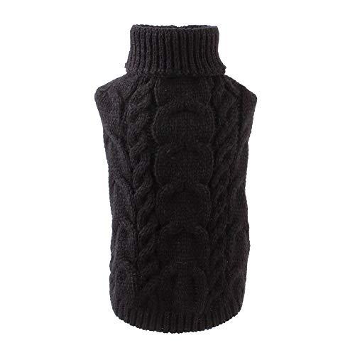 Suéteres de perro, abrigo cálido para mascotas suave invierno suéteres de punto ropa para gatos y perros pequeños