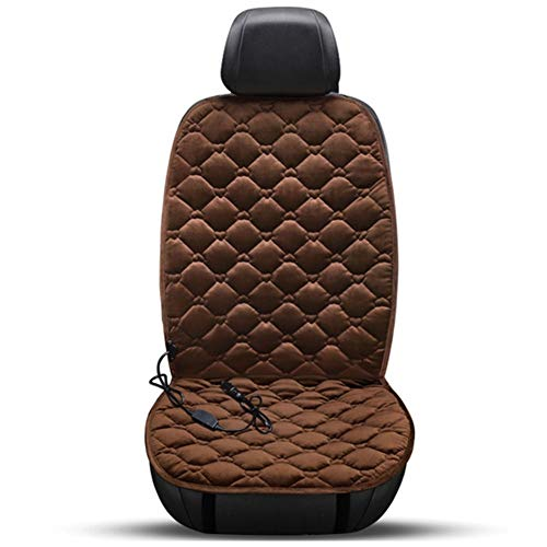 Car Front Seat Cushion, Car Heating Cushion, Intelligent Temperature Control Heating Cushion (Color : Brown)