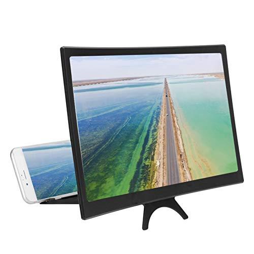 12-Zoll-Handy-Bildschirmverstärker Lupe Vergrößerungsgerät für Mobiltelefone, gebogener 3D-HD-Universal-Telefonhalter für alle Smartphones