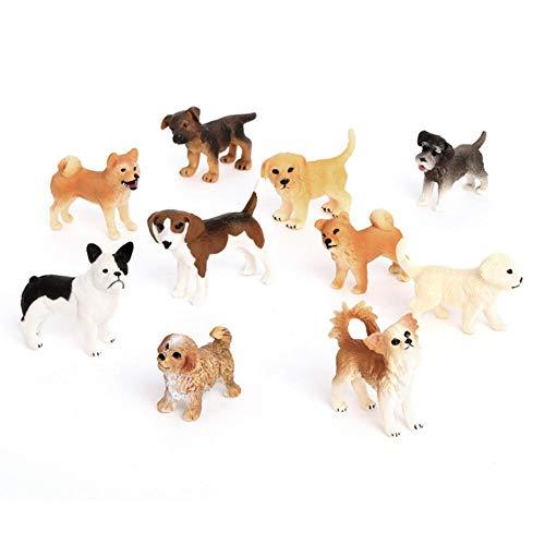 10 Stück Hundefiguren Welpe Modell Set Niedliche Miniatur Deko Dekofigur Kleiner Hund Mini Dekofiguren Tier Hundefiguren Spielzeug Set