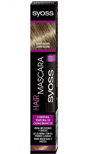 SYOSS - Hair Mascara - Cepillo Cubre Canas - Color Rubio Oscuro - 2 uds de 16ml