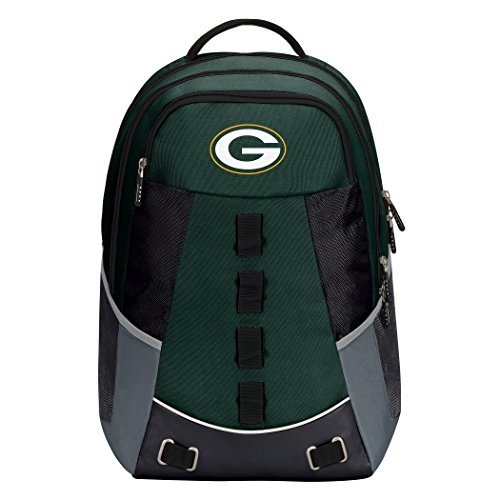 """NFL Green Bay Packers """"Personnel"""" Backpack, 19"""" x 5"""" x 13"""""""