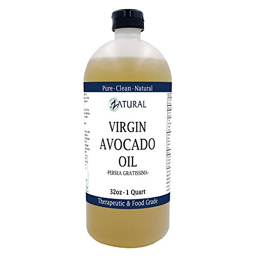 Zatural Virgin 100% Pure Natural Avocado Oil without Additives, Clean, Cold Pressed, Non-GMO, Vegan: For Cooking, Frying, Baking and for Sauces, Dressings, Marinades, Salads (32 Ounce)