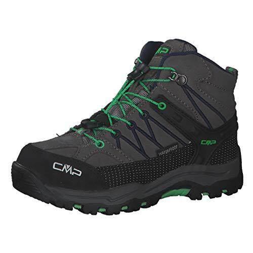 CMP Kinder Trekking Schuhe Rigel MID 3Q12944 Graffite-Verde Fluo 31