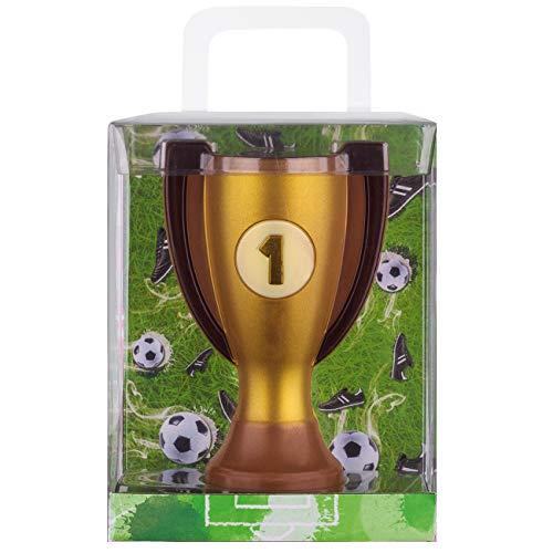 Weibler Confiserie Geschenkpackung Pokal Fussball 150g Edelvollmilch Schokolade
