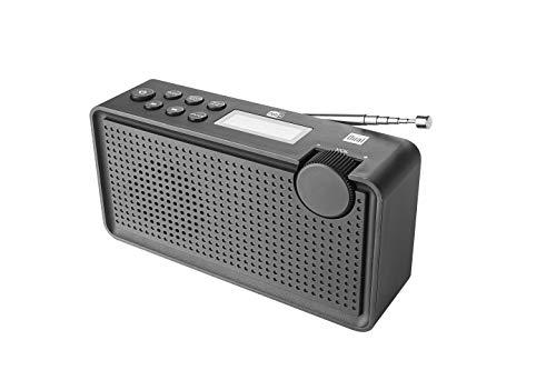 Digitalradio mit Akku • DAB+ / UKW • Kopfhörer-Anschluss • LCD-Bildschirm • Senderspeicher • Teleskopantenne • Schwarz • Dual DAB 85, 160 x 51 x 85 mm