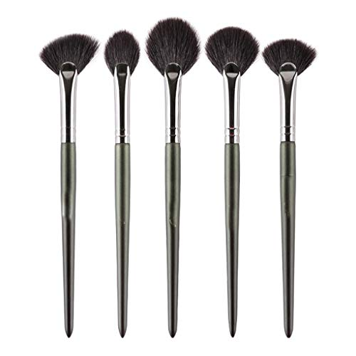 Profesional Pinceles de maquillaje de material de lana 5 Pinceles en forma...
