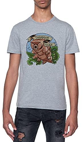 Tardigrade Animal Camiseta Gris para Hombre De Manga Corta con Cuello Redondo Grey T-Shirt Mens XL