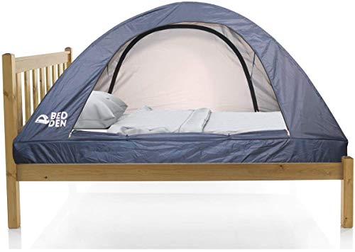 Bed Den II - Foldable Privacy Bed Tent Twin XL (79.5' L x 37.4' W x 35' H) Pop Up College Dorm Room Kids Cozy Sleep Better