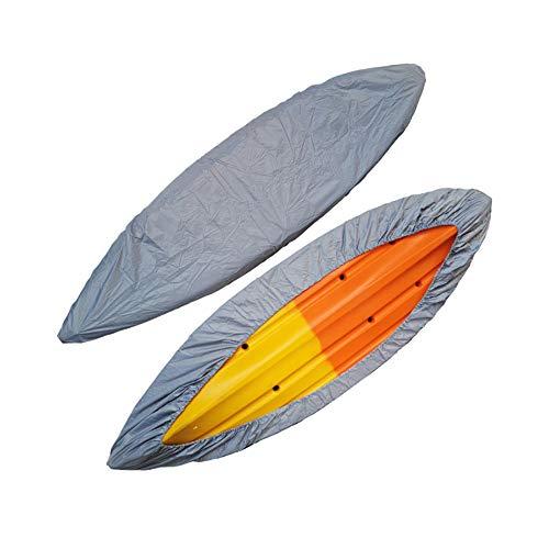 Kayak Canoe Cover, Waterproof Boat Storage Dust Cover Waterproof & UV Resistant (Silver, 13.5-14.8ft)