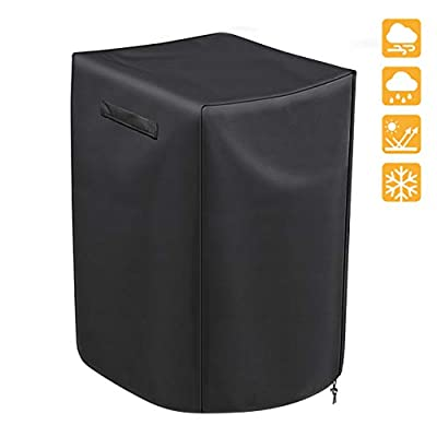 iCOVER Grill Cover 30 inch, 210D Light-Weight Polyester Electric Smoker Cover, Convenient Portable Easy On/Off, Dustproof Waterproof for Weber Char-Broil Nexgrill and More Grills