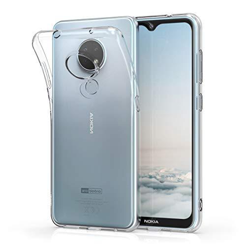 kwmobile Hülle kompatibel mit Nokia 6.2 - Silikon Handyhülle transparent - Handy Hülle in Transparent