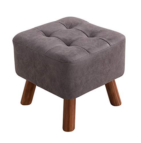 Poufs et repose-pieds Canapé en bois moderne avec repose-pieds Canapé Ottoman Pouffe Chair Banc de chaussures Tabouret de pied Changement 4 jambes (Couleur : Gray)