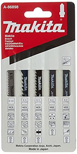 Makita A-86898 - Juego de hojas para sierra de calar (5 unidades)