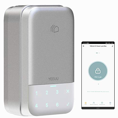 YEEUU Smart Keybox Lock with Passcode and Management APP, Perfect for Smart Home, Airbnb and Rental Business, Newest 2021 Version (K120)