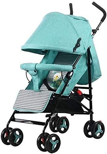 Cochecito de cochecito de cochecito de cochecito de cochecito de cochecito cochecito liviano, cómodos sillas de bebé compactas, puede sentarse o acostarse, sistema de viaje seguro, 62 * 49 * 101 cm