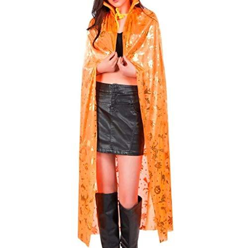 Chal Unisex Hombre Mujer Festiva Carnaval De Disfraz Classic Fashion Cosplay Outfit Sencillos Ropa Party Club Capa Costume Prendas Exteriores Estilo (Color : Naranja, Size : One Size)