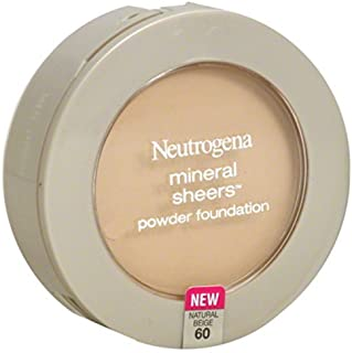 Neutrogena Mineral Sheers Compact Powder Foundation, Lightweight & Oil-Free Mineral Foundation, Fragrance-Free, Natural Be...