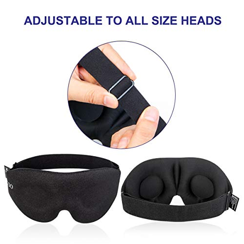 MZOO Light-Blocking 3D Eye Mask Package