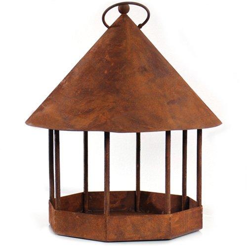 Dewoga Vogelhaus zum Hängen Edelrost Rost