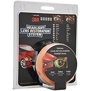 3M 39073 Headlight Lens Restoration Kit to Restore Dull/Faded/Discoloured Headlights:Ege17ru